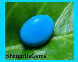 14mm Turquoise Arizona Sleeping Beauty cabochon 7ct 14 by 11 by 6mm resin c