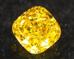 Exclusive 0.27Ct Fancy Vivid Yellow Natural Diamond B1105