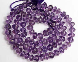 AA+ 5-6.00MM  GORGEOUS AMETHYST PLAIN BUTTON BEADS!