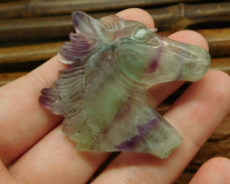 Gemstone fluorite carving horse jewelry (G0407)