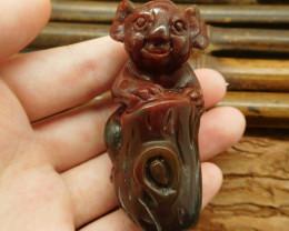 Customized carving animal koala bear craft fancy agate (G0412)
