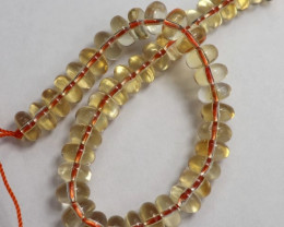 AA GORGEOUS NATURAL CITRINE 8X5.00MM PLAIN ROUNDELS!