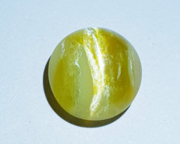 4.85 ct Pale Honey Colour Round Mixed Cab Natural Opal Cat's Eye