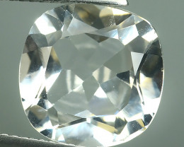 7.40 CTS~FINE QUALITY_LUSTROUS -NATURAL WHITE TOPAZ 12.03MM-CUSHION_CUT
