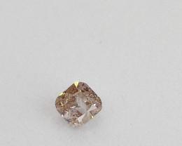 0.17ct  Light Pink Diamond , 100% Natural Untreated