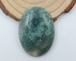 49Cts Moss agate Gemstone Natural Moss Agate Cabochon Oval Moss Agate C767