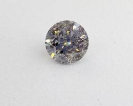 0.525ct Fancy Light bluish Gray  Diamond , 100% Natural Untreated