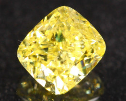 0.56Ct Vivid Intense Yellow Fancy Natural Diamond A1205