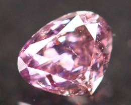 Natural Argyle 0.17Ct Fancy Purplish Pink Natural Diamond C1206