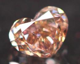 Natural Argyle 0.23Ct VS Vivid Peach Pink Diamond 6907
