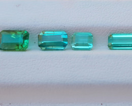 4.85 Ct Natural Light Blueish Green & Green Transparent Tourmaline Gems
