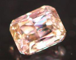 Natural Argyle 0.14Ct Peach Pink Diamond 6938