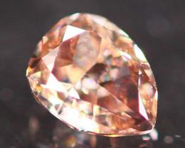 Natural Argyle 0.19Ct Fancy Peach Pink Natural Diamond B1301