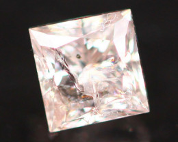 0.23Ct Fancy Pink Princess Cut Natural Diamond B1307