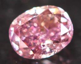 Natural Argyle 0.14Ct Fancy Purplish Pink Natural Diamond C1303