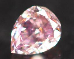 Natural Argyle 0.10Ct Fancy Peach Pink Natural Diamond C1307