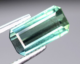 1.70  cts Blueish Green  color Tourmaline Gemstone From Afghan