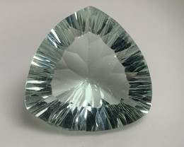 ⭐ 11.85ct Mint Fluorite Concave Trillion Cut No Reserve