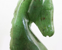 Genuine 880.00 Cts Green Aventurine Horse Burst