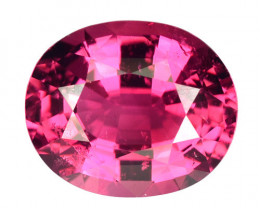 ~SWEETY~ 2.23 Cts Natural Hot Pink Tourmaline Oval Cut Mozambique