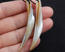 Natural Conch Shell Long Earring Beads stone for earrings making H6129