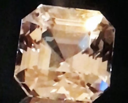 Glowing Asscher Cut, 20.30 ct, Unheated Champagne Topaz - Pakistan G593