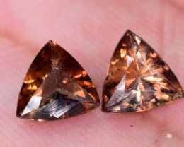 pair of  AXINITE 1.55 carats Natural Rare Gemstone