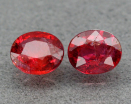Pair Ruby - 0.54 cts - Untreated - Mozambique