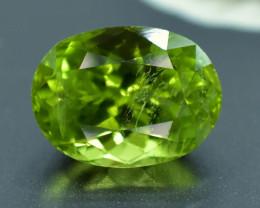 No Resere - 4.45 Carats Natural Olivine Green Natural Peridot Gemstone