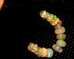2.15 Crts Natural Ethiopian Welo Opal Beads Demi Strand 118