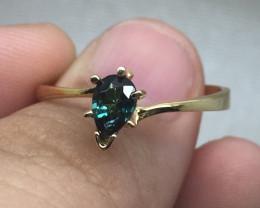 (5) Brand New Nat. 0.62ct Green Tsavorite Gold Ring 10K YG