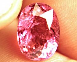 6.58 Carat Nigerian Raspberry Tourmaline - Superb