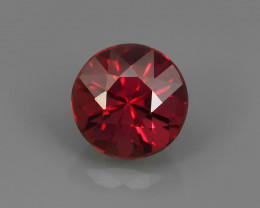 .50CT MANDARIN SAPPHIRE with INTENSE ORANGE. 4.5mm Round Brilliant.