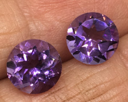 3.60 Carat VVS Amethyst Pair Brazilian Beauty !