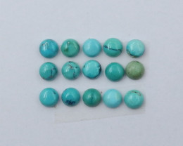 9cts Lucky Round Turquoise ,Handmade Gemstone ,Turquoise Cabochons ,Lucky S
