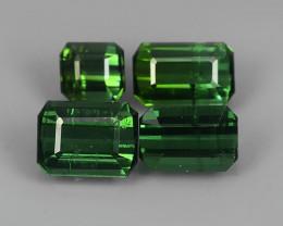 4.35 Cts Natural Tourmaline green Mozambique Gem 4 pcs