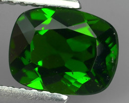 1.60  CtS ATTRACTIVE ULTRA RARE NATURAL CHROME DIOPSIDE CUSHION RUSSIA!!