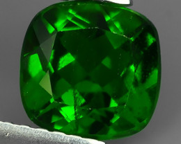 1.40 CTS NATURAL ULTRA RARE CHROME GREEN DIOPSIDE CUSHION RUSSIA