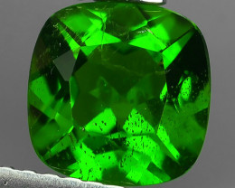 1.60 CTS NATURAL ULTRA RARE CHROME GREEN DIOPSIDE CUSHION RUSSIA
