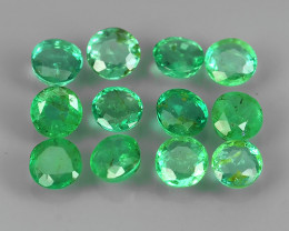 1.10 CTS DAZZLING ~NATURAL EMERALD ~ROUND~NICE QUALITY GOOD LUSTER GEM!!