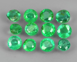 DAZZLING ~NATURAL EMERALD ~ROUND~NICE QUALITY GOOD LUSTER GEM!!
