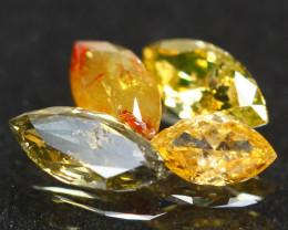 0.92Ct Fancy Multi Color Marquise Cut Natural Diamond A1407