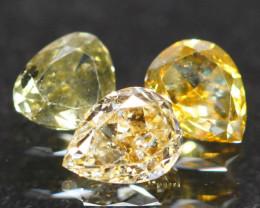 0.56Ct Fancy Green Yellow Natural Diamond  A1411