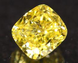 0.76Ct Vivid Intense Yellow Fancy Natural Diamond B1408