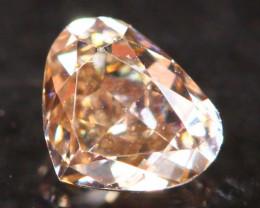 Natural Argyle 0.22Ct Fancy Peach Pink Natural Diamond B1411