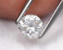 0.51Ct Untreated Round Brilliant Cut White Diamond C1409