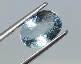 2.75 Carat VVS Aquamarine Aqua Blue Precision Cut Quality !