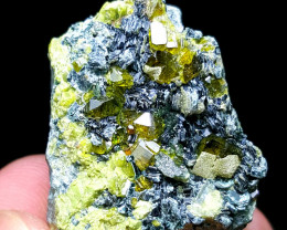 Cute Damage free Epidote with black mica 185 Cts- Afghanistan