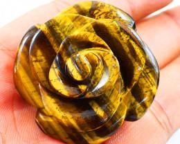 Genuine 231.00 Cts Golden Tiger Eye Rose