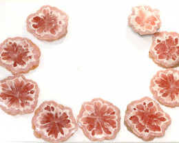Rhodochrosite Stalactite Polished Slices